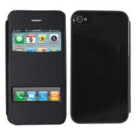 Apple iPhone 4/ 4S/ 4G: Accessoire Coque Etui Housse Pochette Plastique View Case - NOIR