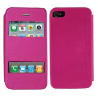 Apple iPhone 4/ 4S/ 4G: Accessoire Coque Etui Housse Pochette Plastique View Case - ROSE