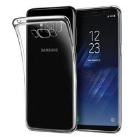 """Samsung Galaxy S8 5.8"""" (non compatible Galaxy S8 Plus 6.2""""): Accessoire Housse Etui Coque gel UltraSlim et Ajustement parfait - TRANSPARENT"""