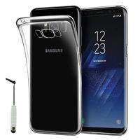 """Samsung Galaxy S8 5.8"""" (non compatible Galaxy S8 Plus 6.2""""): Accessoire Housse Etui Coque gel UltraSlim et Ajustement parfait + mini Stylet - TRANSPARENT"""