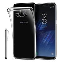 """Samsung Galaxy S8 5.8"""" (non compatible Galaxy S8 Plus 6.2""""): Accessoire Housse Etui Coque gel UltraSlim et Ajustement parfait + Stylet - TRANSPARENT"""