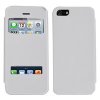 Apple iPhone 5/ 5S/ SE: Accessoire Coque Etui Housse Pochette Plastique View Case - BLANC