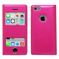 Apple iPhone 5C: Accessoire Coque Etui Housse Pochette Plastique View Case - ROSE