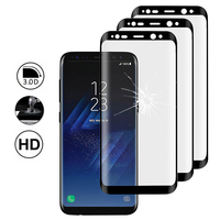 "Samsung Galaxy S8 5.8"" (non compatible Galaxy S8 Plus 6.2""): Lot/ Pack de 3 Films en Verre Trempé Bord Incurvé Resistant"