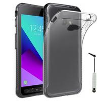 Samsung Galaxy Xcover 4: Accessoire Housse Etui Coque gel UltraSlim et Ajustement parfait + mini Stylet - TRANSPARENT