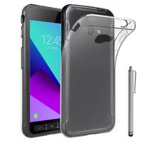 Samsung Galaxy Xcover 4: Accessoire Housse Etui Coque gel UltraSlim et Ajustement parfait + Stylet - TRANSPARENT