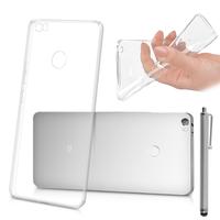 "Xiaomi Mi Max 6.44"": Accessoire Housse Etui Coque gel UltraSlim et Ajustement parfait + Stylet - TRANSPARENT"