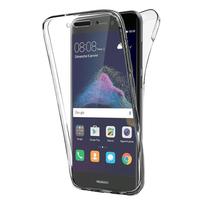 """Huawei P8 Lite (2017) 5.2""""/ P9 Lite (2017)/ Honor 8 Lite/ Nova Lite/ GR3 (2017) (non compatible Version 2015/ 2016): Coque Housse Silicone Gel TRANSPARENTE ultra mince 360° protection intégrale Avant et Arrière - TRANSPARENT"""