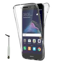 """Huawei P8 Lite (2017) 5.2""""/ P9 Lite (2017)/ Honor 8 Lite/ Nova Lite/ GR3 (2017) (non compatible Version 2015/ 2016): Coque Housse Silicone Gel TRANSPARENTE ultra mince 360° protection intégrale Avant et Arrière + mini Stylet - TRANSPARENT"""