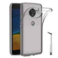 """Lenovo Motorola Moto G5 5.0"""" (non compatible Moto G5 Plus 5.2""""): Accessoire Housse Etui Coque gel UltraSlim et Ajustement parfait + mini Stylet - TRANSPARENT"""