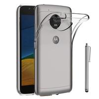 """Lenovo Motorola Moto G5 5.0"""" (non compatible Moto G5 Plus 5.2""""): Accessoire Housse Etui Coque gel UltraSlim et Ajustement parfait + Stylet - TRANSPARENT"""