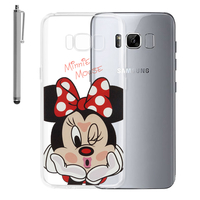 "Samsung Galaxy S8 5.8"" (non compatible Galaxy S8 Plus 6.2""): Coque Housse silicone TPU Transparente Ultra-Fine Dessin animé jolie + Stylet - Minnie Mouse"