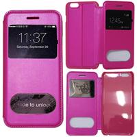 Apple iPhone 6 Plus/ 6s Plus: Accessoire Coque Etui Housse Pochette Plastique View Case - ROSE