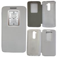LG G2 D802/ D803/ VS980: Accessoire Coque Etui Housse Pochette Plastique View Case - BLANC