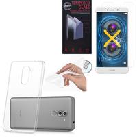 """Huawei Honor 6X 5.5""""/ 6X Pro/ GR5 2017/ Mate 9 Lite: Etui Housse Pochette Accessoires Coque gel UltraSlim - TRANSPARENT + 1 Film de protection d'écran Verre Trempé"""