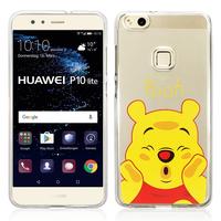 "Huawei P10 Lite 5.2"" (non compatible Huawei P10/ P10 Plus): Coque Housse silicone TPU Transparente Ultra-Fine Dessin animé jolie - Winnie the Pooh"