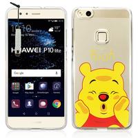 "Huawei P10 Lite 5.2"" (non compatible Huawei P10/ P10 Plus): Coque Housse silicone TPU Transparente Ultra-Fine Dessin animé jolie + mini Stylet - Winnie the Pooh"