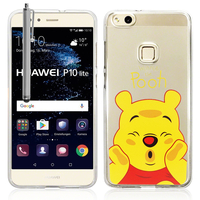 "Huawei P10 Lite 5.2"" (non compatible Huawei P10/ P10 Plus): Coque Housse silicone TPU Transparente Ultra-Fine Dessin animé jolie + Stylet - Winnie the Pooh"