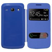 Samsung Galaxy Core Plus G3500/ Trend 3 G3502: Accessoire Coque Etui Housse Pochette Plastique View Case - BLEU