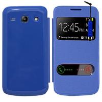 Samsung Galaxy Core Plus G3500/ Trend 3 G3502: Accessoire Coque Etui Housse Pochette Plastique View Case + mini Stylet - BLEU