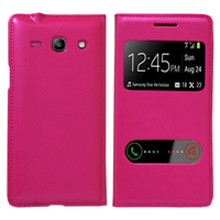 Samsung Galaxy Core Plus G3500/ Trend 3 G3502: Accessoire Coque Etui Housse Pochette Plastique View Case - ROSE