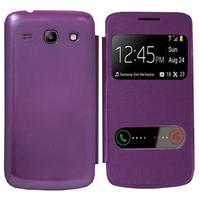 Samsung Galaxy Core Plus G3500/ Trend 3 G3502: Accessoire Coque Etui Housse Pochette Plastique View Case - VIOLET