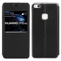 """Huawei P10 Lite 5.2"""" (non compatible Huawei P10/ P10 Plus): Etui View Case Flip Folio Leather cover - NOIR"""