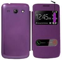 Samsung Galaxy Core Plus G3500/ Trend 3 G3502: Accessoire Coque Etui Housse Pochette Plastique View Case + mini Stylet - VIOLET
