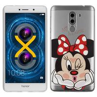 "Huawei Honor 6X 5.5""/ 6X Pro/ GR5 2017/ Mate 9 Lite: Coque Housse silicone TPU Transparente Ultra-Fine Dessin animé jolie - Minnie Mouse"