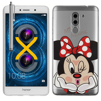 "Huawei Honor 6X 5.5""/ 6X Pro/ GR5 2017/ Mate 9 Lite: Coque Housse silicone TPU Transparente Ultra-Fine Dessin animé jolie + Stylet - Minnie Mouse"