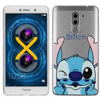 """Huawei Honor 6X 5.5""""/ 6X Pro/ GR5 2017/ Mate 9 Lite: Coque Housse silicone TPU Transparente Ultra-Fine Dessin animé jolie - Stitch"""
