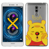 "Huawei Honor 6X 5.5""/ 6X Pro/ GR5 2017/ Mate 9 Lite: Coque Housse silicone TPU Transparente Ultra-Fine Dessin animé jolie - Winnie the Pooh"