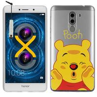 "Huawei Honor 6X 5.5""/ 6X Pro/ GR5 2017/ Mate 9 Lite: Coque Housse silicone TPU Transparente Ultra-Fine Dessin animé jolie + mini Stylet - Winnie the Pooh"