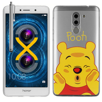 "Huawei Honor 6X 5.5""/ 6X Pro/ GR5 2017/ Mate 9 Lite: Coque Housse silicone TPU Transparente Ultra-Fine Dessin animé jolie + Stylet - Winnie the Pooh"