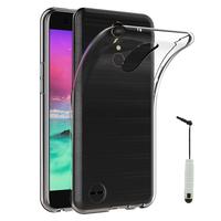 """LG K10 (2017) 5.3""""/ LG X400/ LG M250N: Accessoire Housse Etui Coque gel UltraSlim et Ajustement parfait + mini Stylet - TRANSPARENT"""
