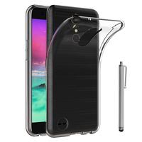 """LG K10 (2017) 5.3""""/ LG X400/ LG M250N: Accessoire Housse Etui Coque gel UltraSlim et Ajustement parfait + Stylet - TRANSPARENT"""