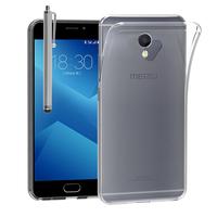 """Meizu M5 Note 5.5"""": Accessoire Housse Etui Coque gel UltraSlim et Ajustement parfait + Stylet - TRANSPARENT"""