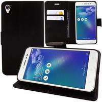 """Asus Zenfone Live ZB501KL 5.0""""/ Zenfone 3 Go (non compatible Zenfone Go ZB500KL): Accessoire Etui portefeuille Livre Housse Coque Pochette support vidéo cuir PU - NOIR"""