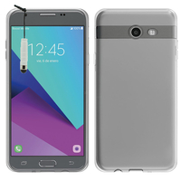 Samsung Galaxy J5 (2017) Version Américaine (non compatible avec Version Europe / Version Internationale): Accessoire Housse Etui Coque gel UltraSlim et Ajustement parfait + mini Stylet - TRANSPARENT