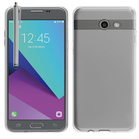 Samsung Galaxy J5 (2017) Version Américaine (non compatible avec Version Europe / Version Internationale): Accessoire Housse Etui Coque gel UltraSlim et Ajustement parfait + Stylet - TRANSPARENT