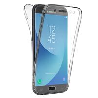 Samsung Galaxy J5 (2017) SM-J750F/DS/ J5 (2017) Duos J530F/DS: Coque Housse Silicone Gel TRANSPARENTE ultra mince 360° protection intégrale Avant et Arrière - TRANSPARENT