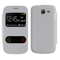 Samsung Galaxy Trend Lite S7390/ Galaxy Fresh Duos S7392: Accessoire Coque Etui Housse Pochette Plastique View Case - BLANC