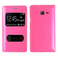 Samsung Galaxy Trend Lite S7390/ Galaxy Fresh Duos S7392: Accessoire Coque Etui Housse Pochette Plastique View Case - ROSE