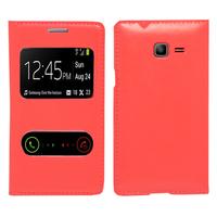 Samsung Galaxy Trend Lite S7390/ Galaxy Fresh Duos S7392: Accessoire Coque Etui Housse Pochette Plastique View Case - ROUGE