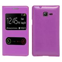 Samsung Galaxy Trend Lite S7390/ Galaxy Fresh Duos S7392: Accessoire Coque Etui Housse Pochette Plastique View Case - VIOLET