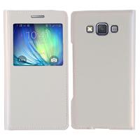 Samsung Galaxy A5 SM-A500F A500H A500K/ A5 Duos SM-A500F/DS SM-A500G/DS A500M/DS (non compatible Galaxy A5 (2016)): Accessoire Coque Etui Housse Pochette Plastique View Case - BLANC