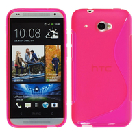 HTC Desire 601 Zara/ Dual Sim: Accessoire Housse Etui Pochette Coque Silicone Gel motif S Line - ROSE