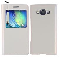 Samsung Galaxy A5 SM-A500F A500H A500K/ A5 Duos SM-A500F/DS SM-A500G/DS A500M/DS (non compatible Galaxy A5 (2016)): Accessoire Coque Etui Housse Pochette Plastique View Case + mini Stylet - BLANC