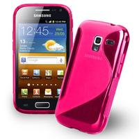 Samsung Galaxy Ace 2 i8160: Accessoire Housse Etui Pochette Coque Silicone Gel motif S Line - ROSE