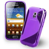 Samsung Galaxy Ace 2 i8160: Accessoire Housse Etui Pochette Coque Silicone Gel motif S Line - VIOLET